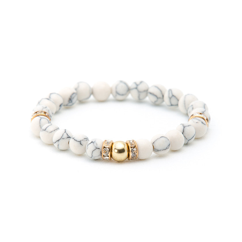 Howlite with Crystals - Pearl in Oyster - Souk Madinat Jumeirah, Dubai