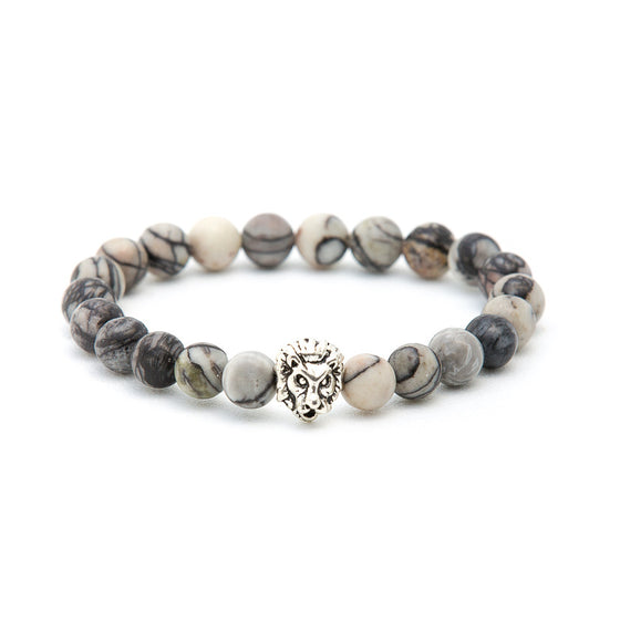 Howlite with Silver Lion - Pearl in Oyster - Souk Madinat Jumeirah, Dubai