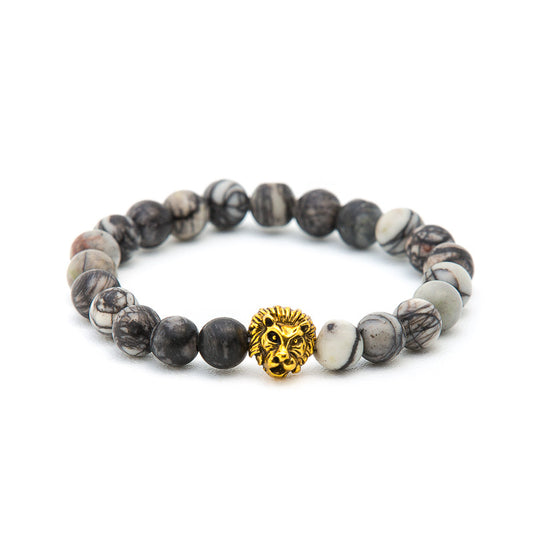 Howlite with Gold Lion - Pearl in Oyster - Souk Madinat Jumeirah, Dubai