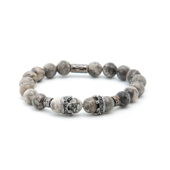 Howlite with Silver Crown - Pearl in Oyster - Souk Madinat Jumeirah, Dubai