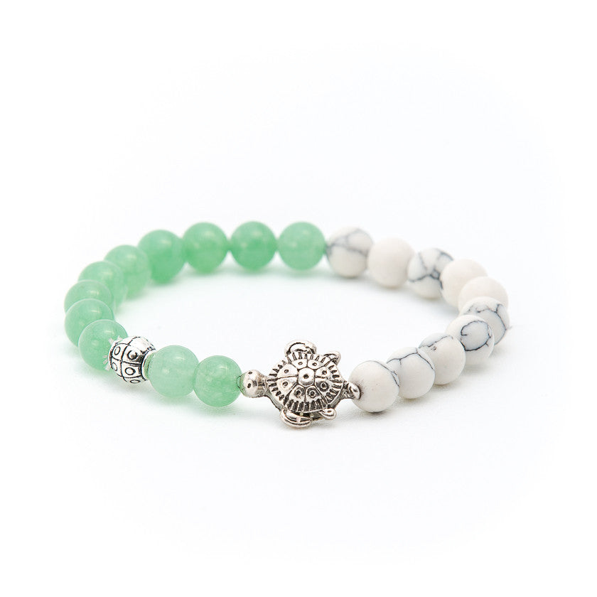 Howlite & Aventurine with Turtle - Pearl in Oyster - Souk Madinat Jumeirah, Dubai