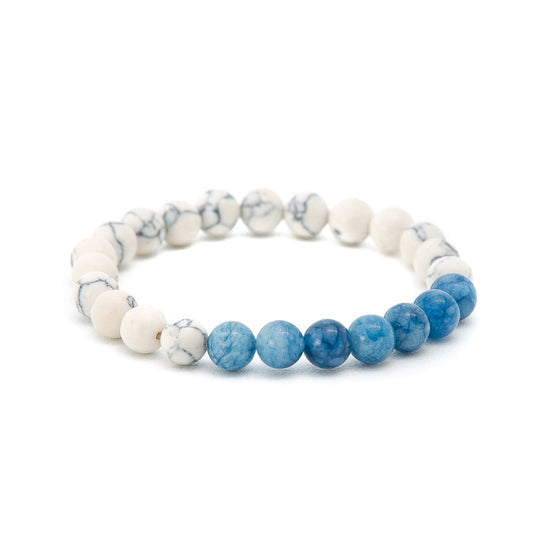 Howlite & Blue Turquoise - Pearl in Oyster - Souk Madinat Jumeirah, Dubai
