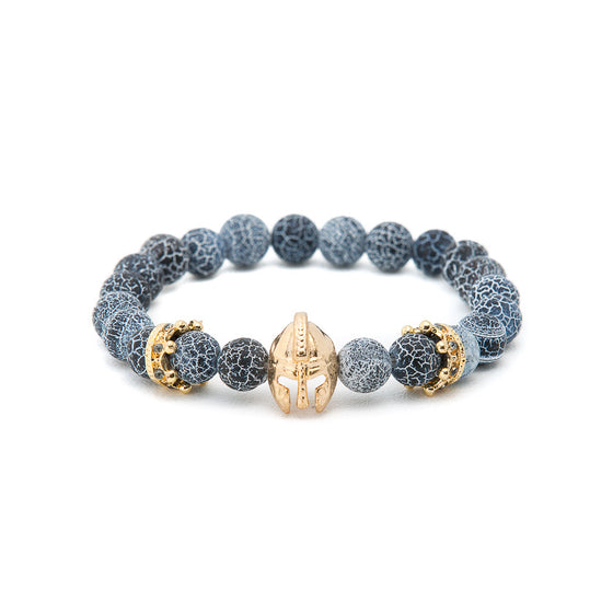 Blue Agate with Gold Gladiator Helmet - Pearl in Oyster - Souk Madinat Jumeirah, Dubai