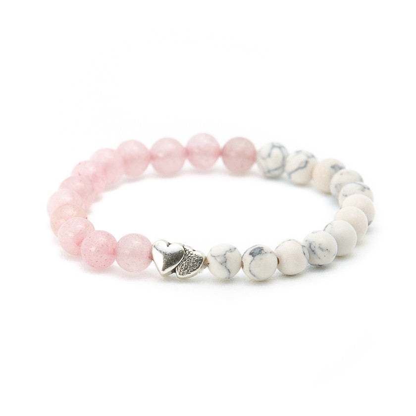 Howlite & Rose Quartz with Heart - Pearl in Oyster - Souk Madinat Jumeirah, Dubai