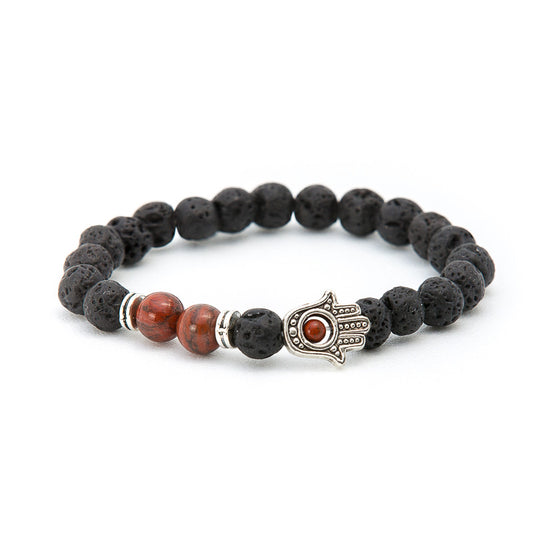 Lava & Red tiger eye with Hand of Fatima - Pearl in Oyster - Souk Madinat Jumeirah, Dubai