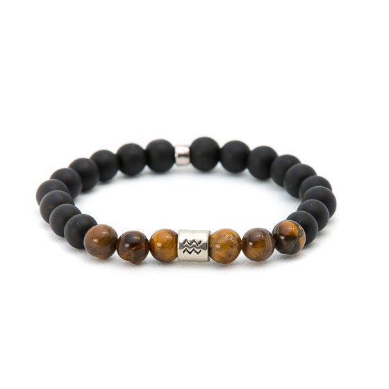 Matte Black Onyx & Tiger Eye with Yoga - Pearl in Oyster - Souk Madinat Jumeirah, Dubai