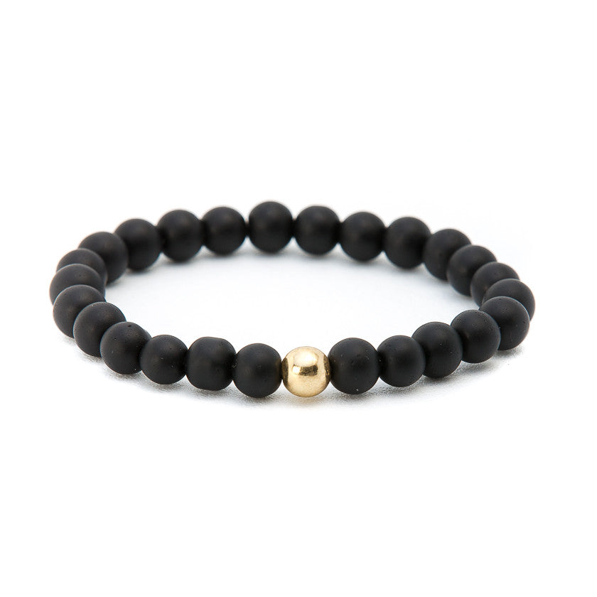 Matte Black Onyx with Gold Ball - Pearl in Oyster - Souk Madinat Jumeirah, Dubai