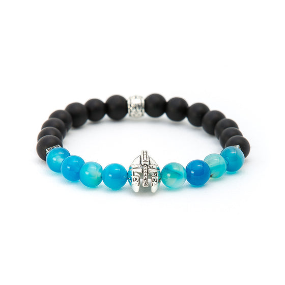 Aquamarine & Matte Black Onyx with Gladiator Helmet - Pearl in Oyster - Souk Madinat Jumeirah, Dubai