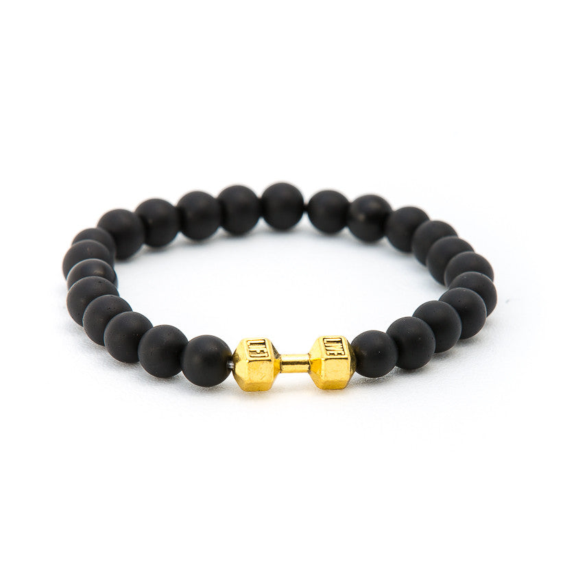 Matte Black Onyx with Dumbbell - Pearl in Oyster - Souk Madinat Jumeirah, Dubai