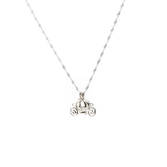 Silver plated Carriage Cage pendant - Pearl in Oyster - Souk Madinat Jumeirah, Dubai