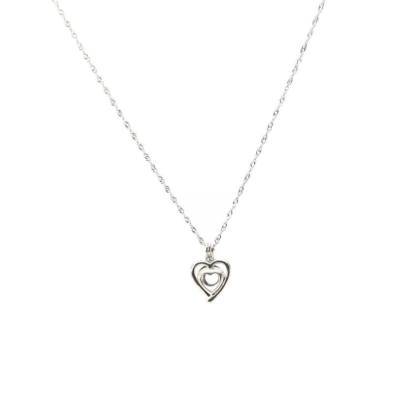 Silver plated Heart Cage pendant - Pearl in Oyster - Souk Madinat Jumeirah, Dubai