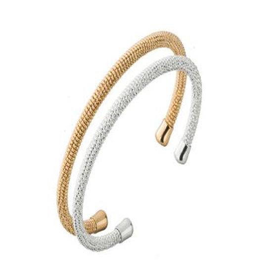 Set of Two Adjustable Textured Bangles - Pearl in Oyster - Souk Madinat Jumeirah, Dubai