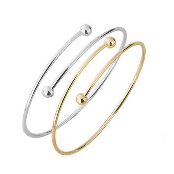 Set of Two Adjustable Double Ball Bangles - Pearl in Oyster - Souk Madinat Jumeirah, Dubai