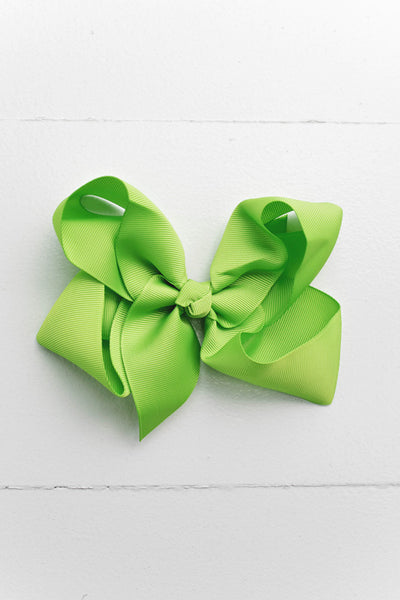 "Lime Green 6"" Hair Bow"
