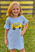 School Bus Striped Dress