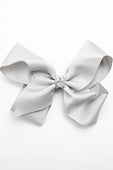 SILVER BOW WITH CLIP