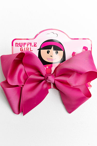 RASPBERRY PINK BOW