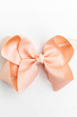 RUFFLE GIRL PEACH BOW