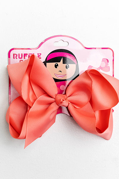 CORAL BOW WITH CLIP