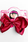 DARK RED BOW WITH CLIP