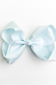 LIGHT BLUE ALLIGATOR CLIP BOW