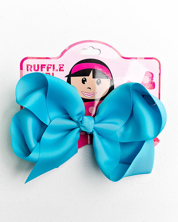 BLUE BOW WITH CLIP
