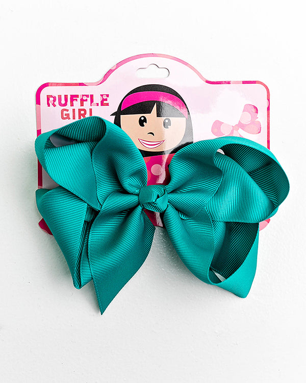 DARK TEAL BOW WITH CLIP