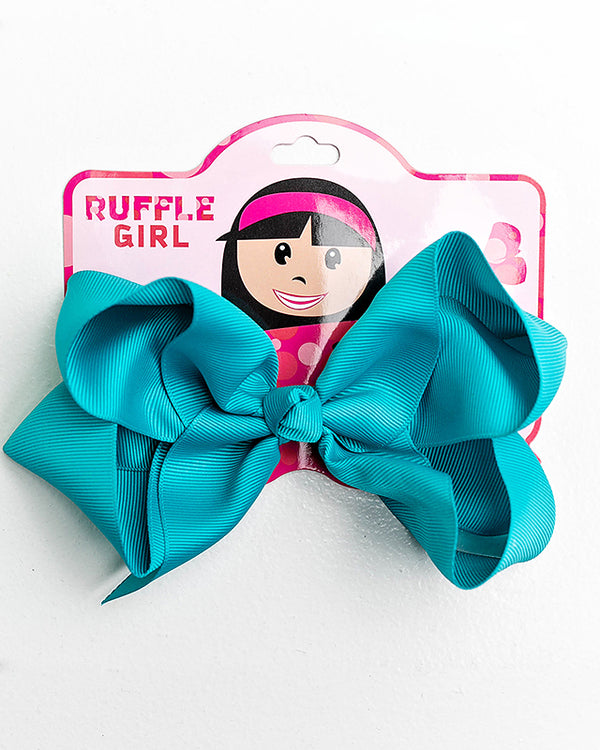 TURQUOISE BOW WITH CLIP
