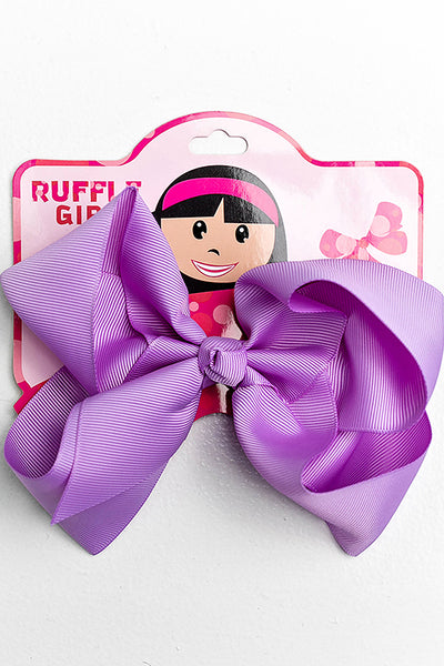 LILAC BOW WITH CLIP