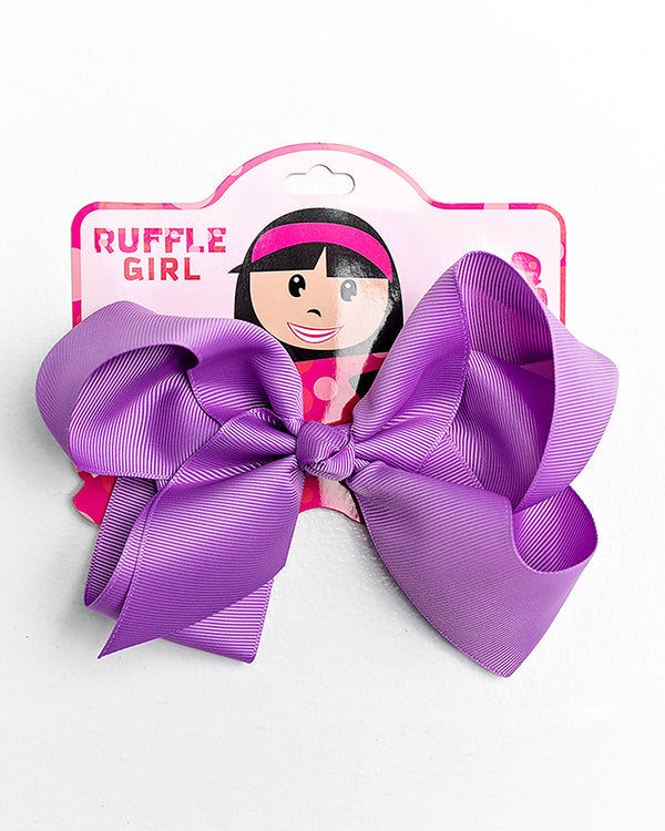 PURPLE BOW WITH CLIP