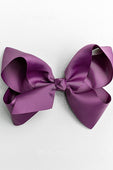 ALLIGATOR CLIP PURPLE BOW