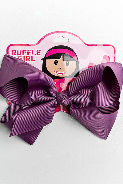 DARK PURPLE BOW