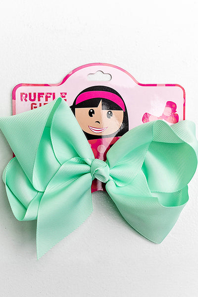 PASTEL MINT BOW WITH CLIP