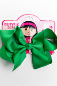 GREEN BOW WITH CLIP