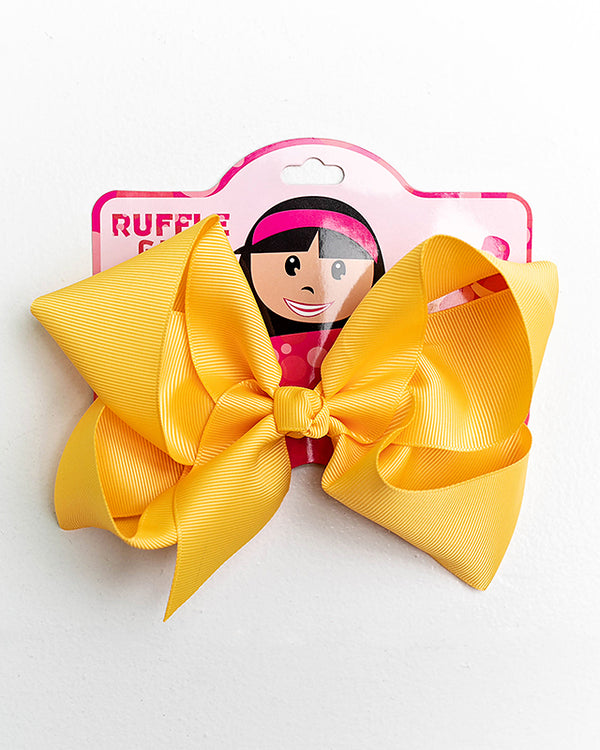 GOLD YELLOW BOW WITH CLIP