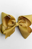 OLIVE BOW WITH CLIP