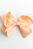 LIGHT PEACH BOW WITH CLIP