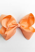 BRIGHT PEACH BOW WITH CLIP