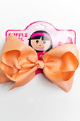 PEACH BOW WITH CLIP
