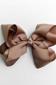 TAN BOW WITH CLIP
