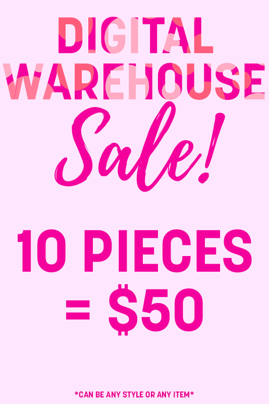 10 Digital Warehouse Sale Items = $50