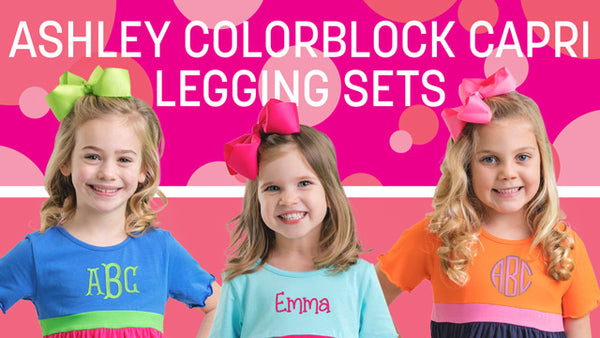 Ashley Colorblock Capri Legging Sets