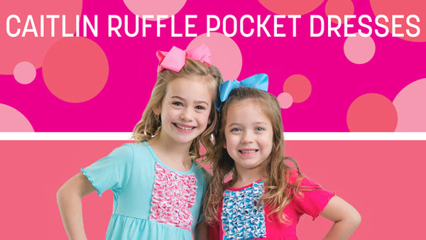 Caitlin Ruffle Pocket Dresses