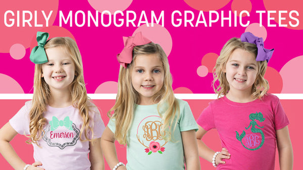Girly Monogram Graphic Tees