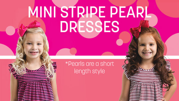 Mini Stripe Pearl Dresses