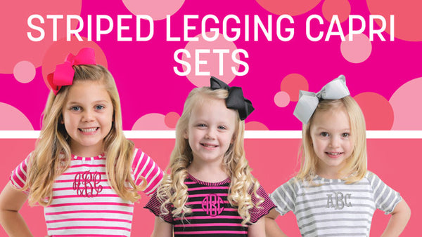 Striped Legging Capri Sets
