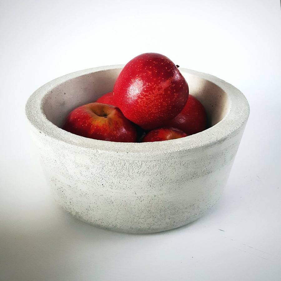 Concrete fruit bowl