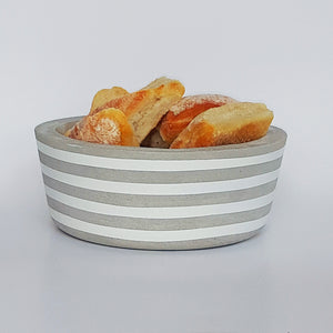 Chalk Design seafog stripe bowl