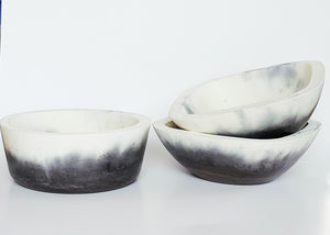 Chalk Design two tone bowls square and round