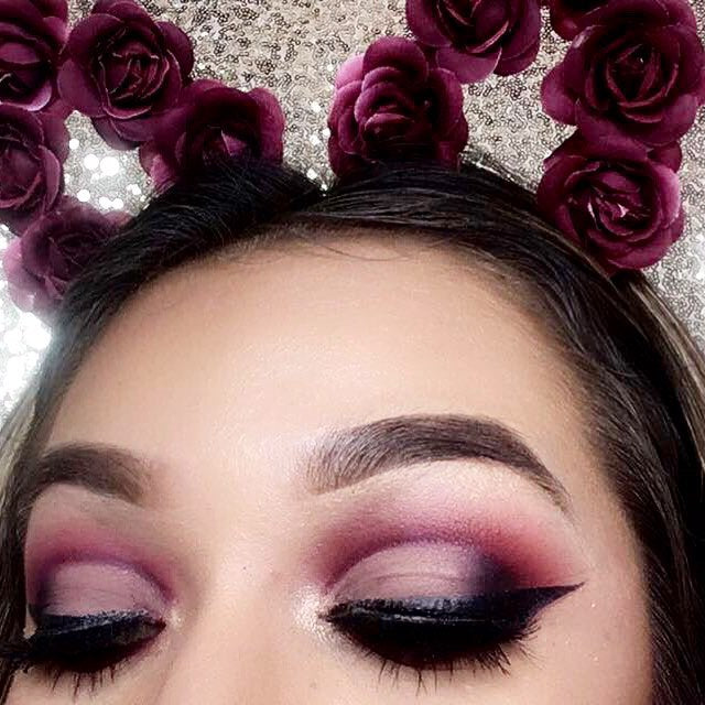 All Matte Burgundy Cut Crease